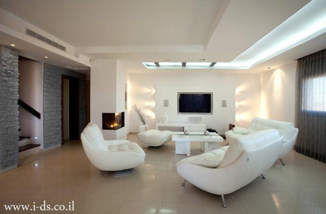 עיצוב ותכנון סלון בקווים נקיים.אירנה פטרושקו אדריכלית פנים. עיצוב ותכנון דירות ובתים פרטיים