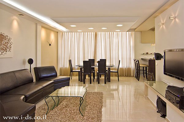 עיצוב חלל סלון ופינת אוכל.אירנה פטרושקו אדריכלית פנים. עיצוב ותכנון דירות ובתים פרטיים