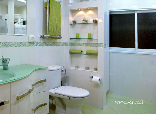 עיצוב חדר אמבטיה מרענן.מעצבת פנים אירנה פטרושקו
