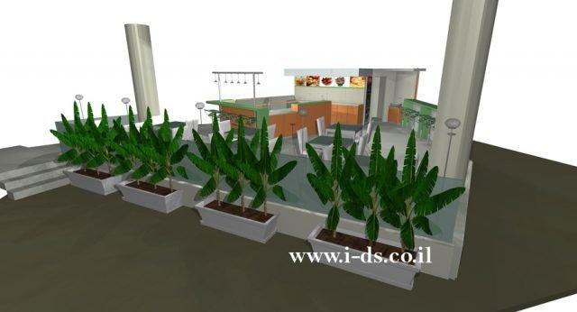 תכנון ועיצוב בית קפה בפתח תקוה. אירנה פטרושקו אדריכלית פנים. עיצוב ותכנון מקומות ציבוריים