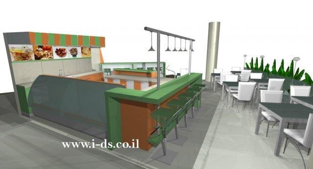 תכנון ועיצוב בית קפה בפתח תקוה. בתהליך בניה.אירנה פטרושקו אדריכלית פנים. עיצוב ותכנון מקומות ציבוריים