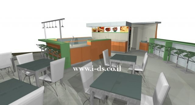 תכנון ועיצוב בית קפה בפתח תקוה. בתהליך בניה. אירנה פטרושקו אדריכלית פנים. עיצוב ותכנון מקומות ציבוריים