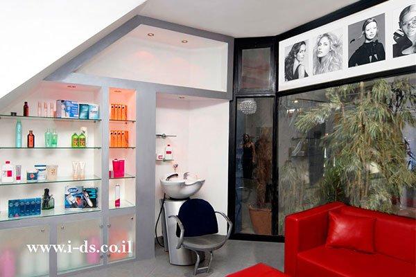 עיצוב מכון יופי, עיצוב מספרה, עיצוב מקומות ציבוריים, מעצבת פנים אירנה פטרושקו, מעצבים מומלצים במרכז