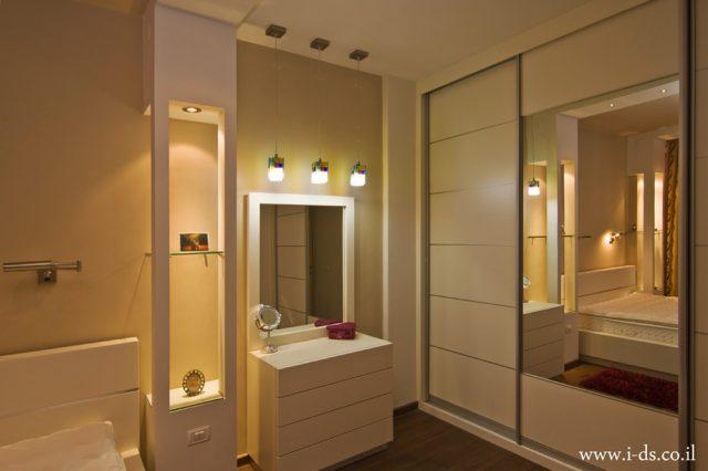 עיצוב חדר שינה אלגנטי.אירנה פטרושקו אדריכלית פנים. עיצוב ותכנון דירות ובתים פרטיים