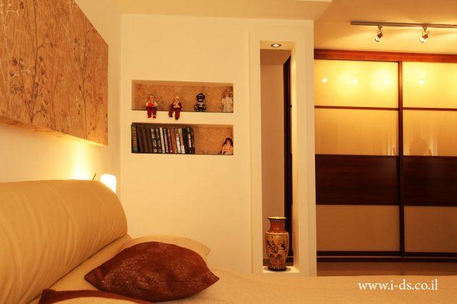 עיצוב חדר שינה בסגנון רומנטי. אירנה פטרושקו אדריכלית פנים. עיצוב ותכנון דירות ובתים פרטיים