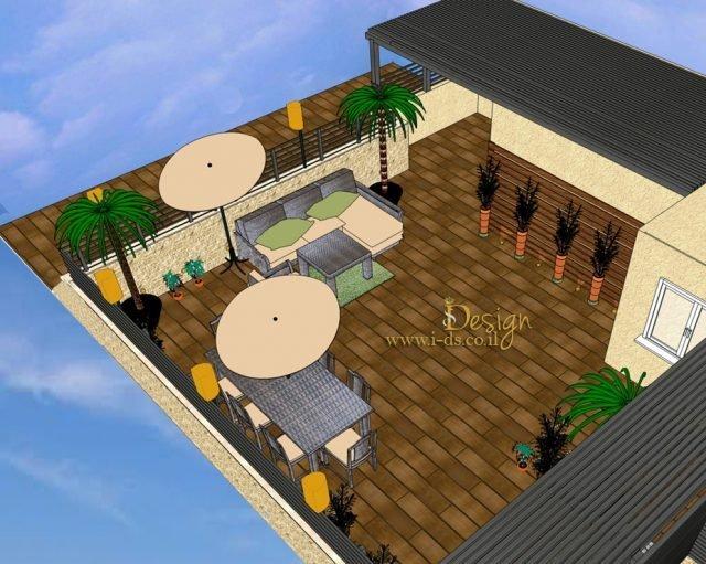 תכנון ועיצוב גגות ומרפסות. פרויקט בהקמה
