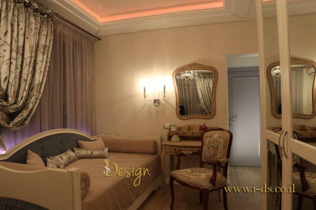 עיצוב חדר שינה יוקרתי. אירנה פטרושקו אדריכלית פנים. עיצוב ותכנון דירות ובתים פרטיים