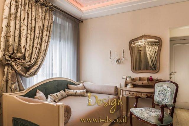 עיצוב חדר שינה יוקרתי. אירנה פטרושקו מעצבת פנים. עיצוב ותכנון דירות ובתים פרטיים