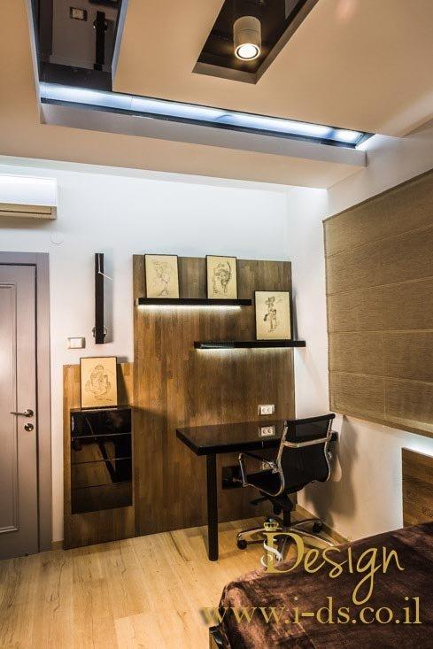 עיצוב חדר שינה. אירנה פטרושקו מעצבת פנים. עיצוב ותכנון דירות ובתים פרטיים