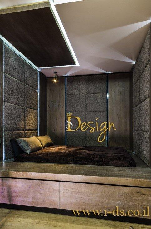 עיצוב חדר שינה. אירנה פטרושקו אדריכלית פנים. עיצוב ותכנון דירות ובתים פרטיים