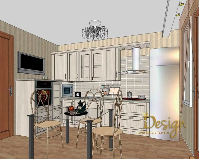 עיצוב ותכנון מטבח.שילוב טלוויזיה במטבח.אירנה פטרושקו אדריכלית פנים. עיצוב ותכנון דירות ובתים פרטיים