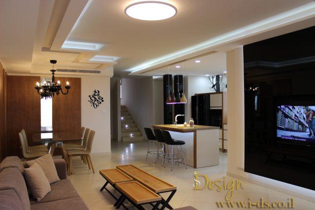 עיצוב חלל סלון ומטבח. אירנה פטרושקו אדריכלית פנים. עיצוב ותכנון דירות ובתים פרטיים
