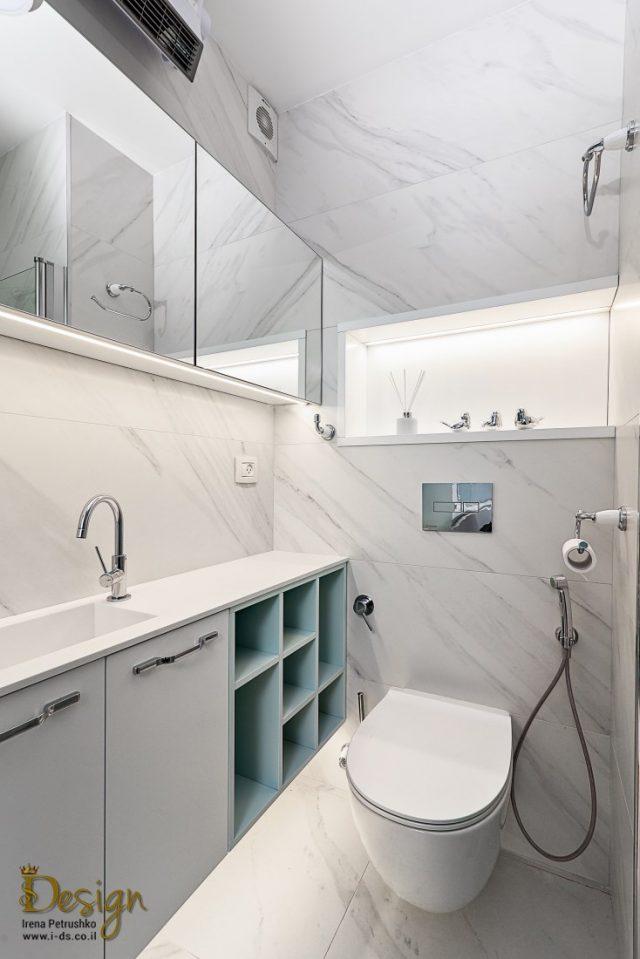 עיצוב אמבטיה בלבן
