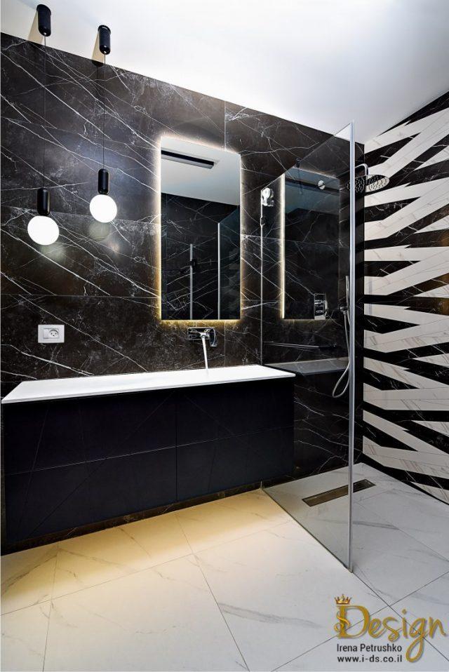 עיצוב אמבטיה בשחור